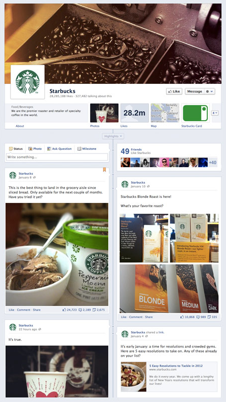 Facebook Timeline for Business Pages     Are You Ready Facebook Page Timeline Example
