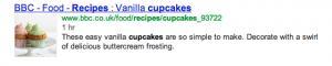 What are rich snippets? Cupcake Recipe