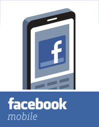 Facebook Mobile - the old style logo