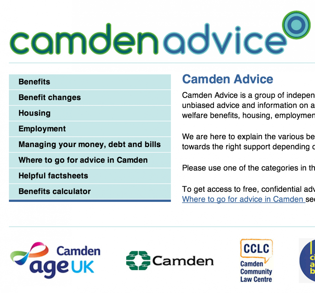 Camden Council Website