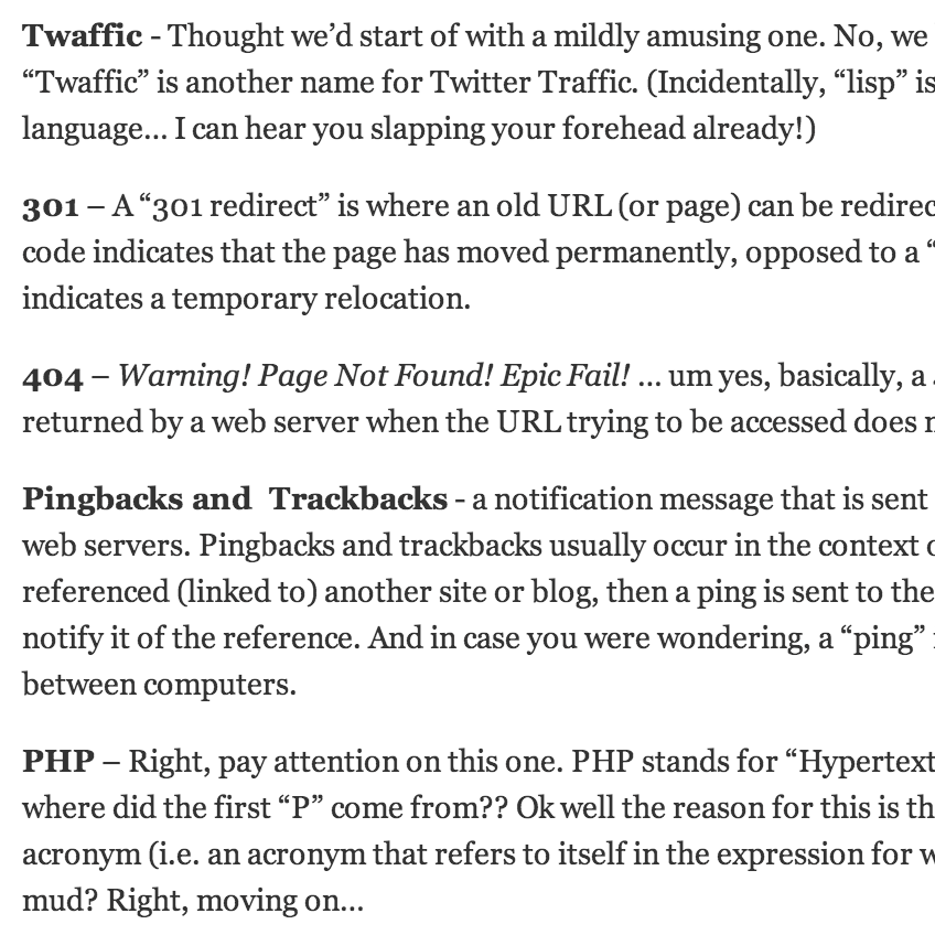 techie terms