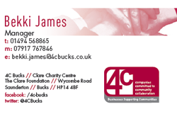 4c business card front