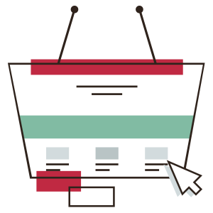 Ecommerce web icon